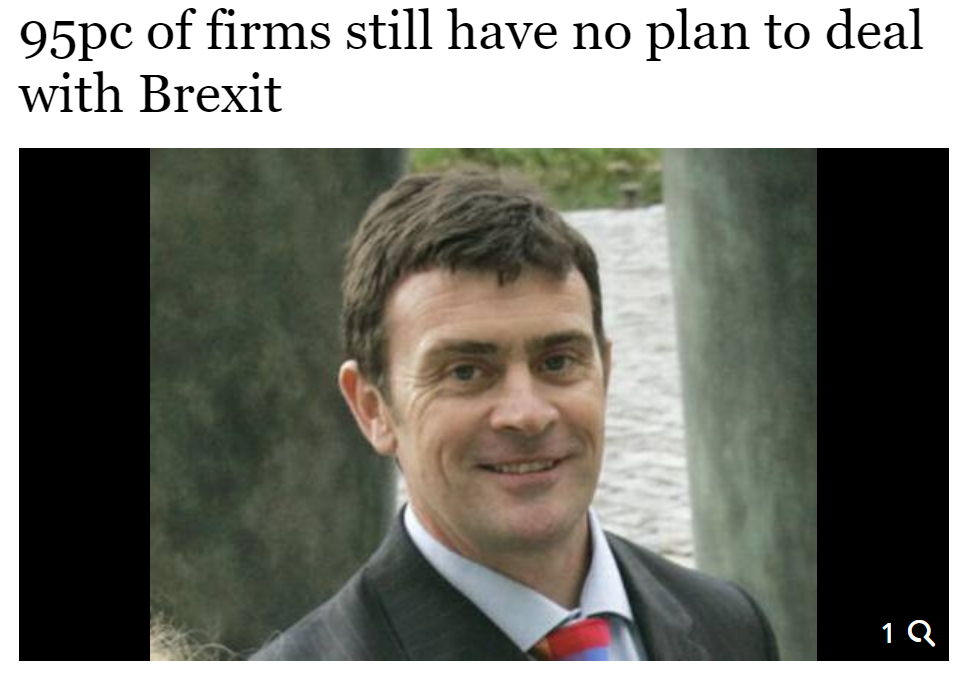 95% of Irish Businesses Still with No Brexit Plan